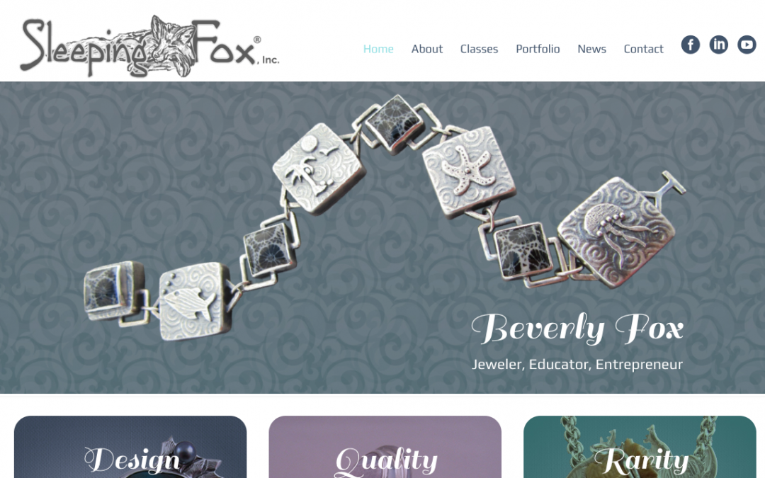Sleeping Fox Jewelry Has a New Website!